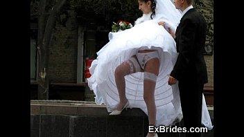 Nasty mature bride gangbanged